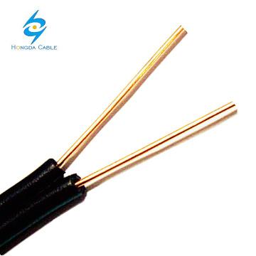 BC 2 x 20 Gauge 0.8mm Drop Wire Cable de teléfono para exteriores