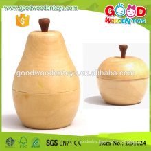 Apple Toy Toothpick Storage Boxes Wooden Toothpick Holder
