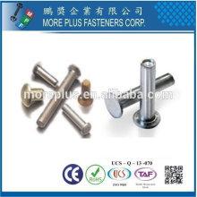 Taiwán Acero inoxidable 18-8 Acero cromado Acero niquelado Cobre Latón Semi tubular y sólido Remache