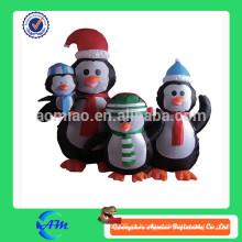 Família do pinguim inflável, pinguim gigante, pinguim inflável