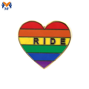 Regalo personalizzato Rainbow Logo Gay Pin Badge