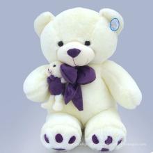 Suave oso blanco de peluche juguete juguetes de peluche para los niños