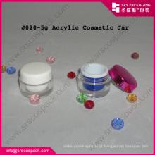 2014 Creme Natute Acrílico Jar embalagem cosméticos Redonda Atacado