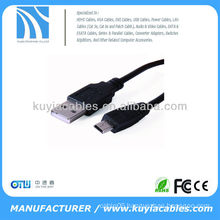 2M High Speed USB2.0 AM to Mini USB Cables USB 2.0 A Male to Mini USB Male Cable Kabel black