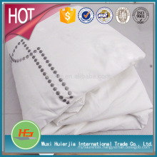 factory directly supply knot/dot embroidered white dovet cover set