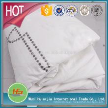 fábrica fornecer diretamente nó / ponto bordado branco dovet cover set