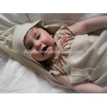 100% Cashmere hooded baby blanket 80*80cm