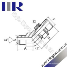 45 cotovelo Jic macho / métrica adaptador de tubo hidráulico masculino (1JH4-OG)