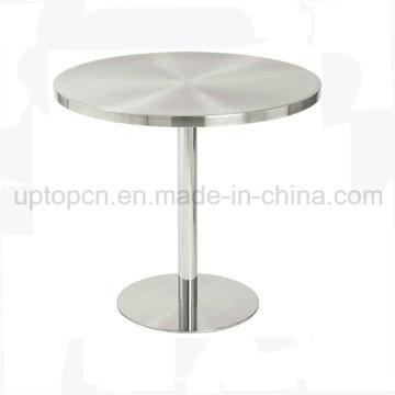 Матовый из нержавеющей стали Открытый Круглый стол для продажи (СП-MT022)