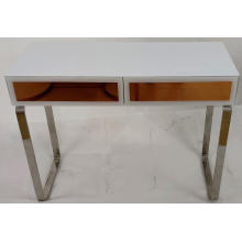 Rose Gold and White Glass MDF Dressing Table