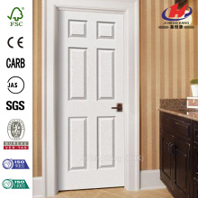 6-Panel Painted Molded Single Prehung Interior Door
