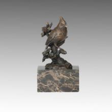 Animal Bird Statue Red Birdle and Branch Bronze Sculpture, Milo Tpal-282 (B)