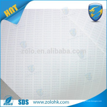 Unsichtbares Eierschalen-Etikettenpapier