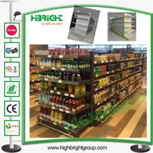 Estante de almacenamiento económico de la góndola del supermercado de doble cara