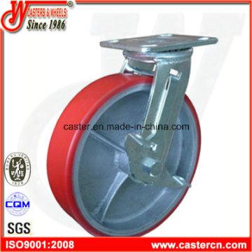 8-дюймовый полиуретановый шарнир с тормозным роликом