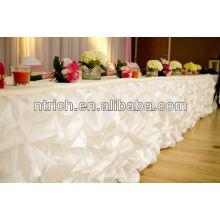 Volantes de Satén de lujo de mesa estilo bordear, mesa de zócalos para boda