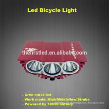 Alta luminosidade 2500LM impermeável Design Cree xm-l2 levou bicicleta luzes recarregáveis