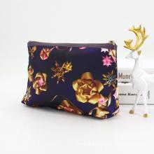 New Full Printing Travel Makeup Brush Bag Custom Satin Cosmetic Bag Pouch
