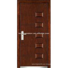 Puertas de seguridad de entrada, puertas acorazadas de madera de acero de calidad
