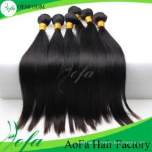 Aofa 7A Grade Reines Haar Remy Menschenhaarverlängerung