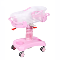 Medical Equipment Luxurious ABS Plastic Height  Adjustable Hospital Baby Bed Cot With Weight  Function