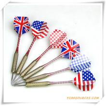 Dardos con punta de aguja de acero con bandera nacional para promoción