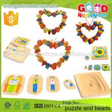 2015 Melhor venda de brinquedos educativos de madeira na China brinquedos coloridos e brinquedos de contas para crianças