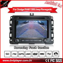 Android 5.1 / 1.6 GHz Car DVD GPS pour Dodge RAM 1500 Lecteur audio pour voiture avec connexion WiFi Hualingan