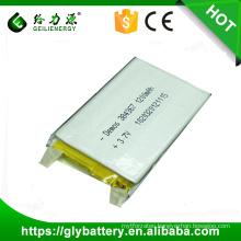 3.7v 1500mah rechargeable li-polymer battery 505060