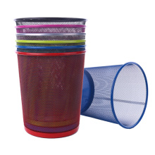 Colorful Iron Netting Waste Bin (YW0079)
