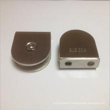 Clamps en verre carré en acier inoxydable (ATC-404)