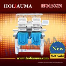 A melhor máquina de bordado de 15 cores de duas cabeças para Multi funções Cap/T-Shirt/Flat vestuário/toalha/3D bordado