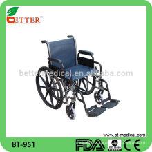 Alumínio exercita cadeira de rodas, cadeira de rodas de porta de viagem