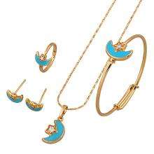 60639 Xuping bijoux ensembles de bijoux en plaqué or, avec pendentif délicat de la mode
