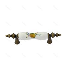 Ceramic Zinc Alloy Cupboard Cabinet Drawer Door Handles