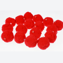 Red craft pompom beads