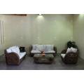 Antique Natural Water Hyacinth Sofa Set Indoor Living Set Furniture