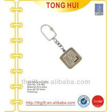 Gravierte Buchstaben-Logo Metall-Schlüsselanhänger Nickel-Finish