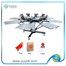 8 color octopus screen printing machine