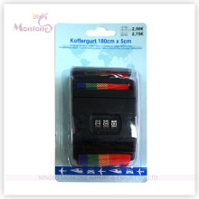Luggage Belt with Passcode Button