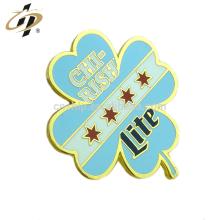 Promotional gift custom metal gold hard enamel leaf lapel pins