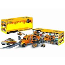 Die-Cast Estacionamento Lot Set Toy F / W Drag carro principal / com luz / Música / Use 3 * AA Crazy Engenharia