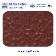 Порошковое покрытие краской Новый бордовый деревянное зерно