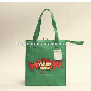 Customized non-woven Tote cooler bag, environmentally friendly fashion cooler lunch bag , wholesale cooler bag