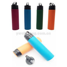 Hot sell BPA free silicone water bottle Eco-friendly bicyle sport bottle folding travel bottle