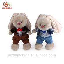 Peluches roupa natal coelho boneca macia pelúcia recheado brinquedos