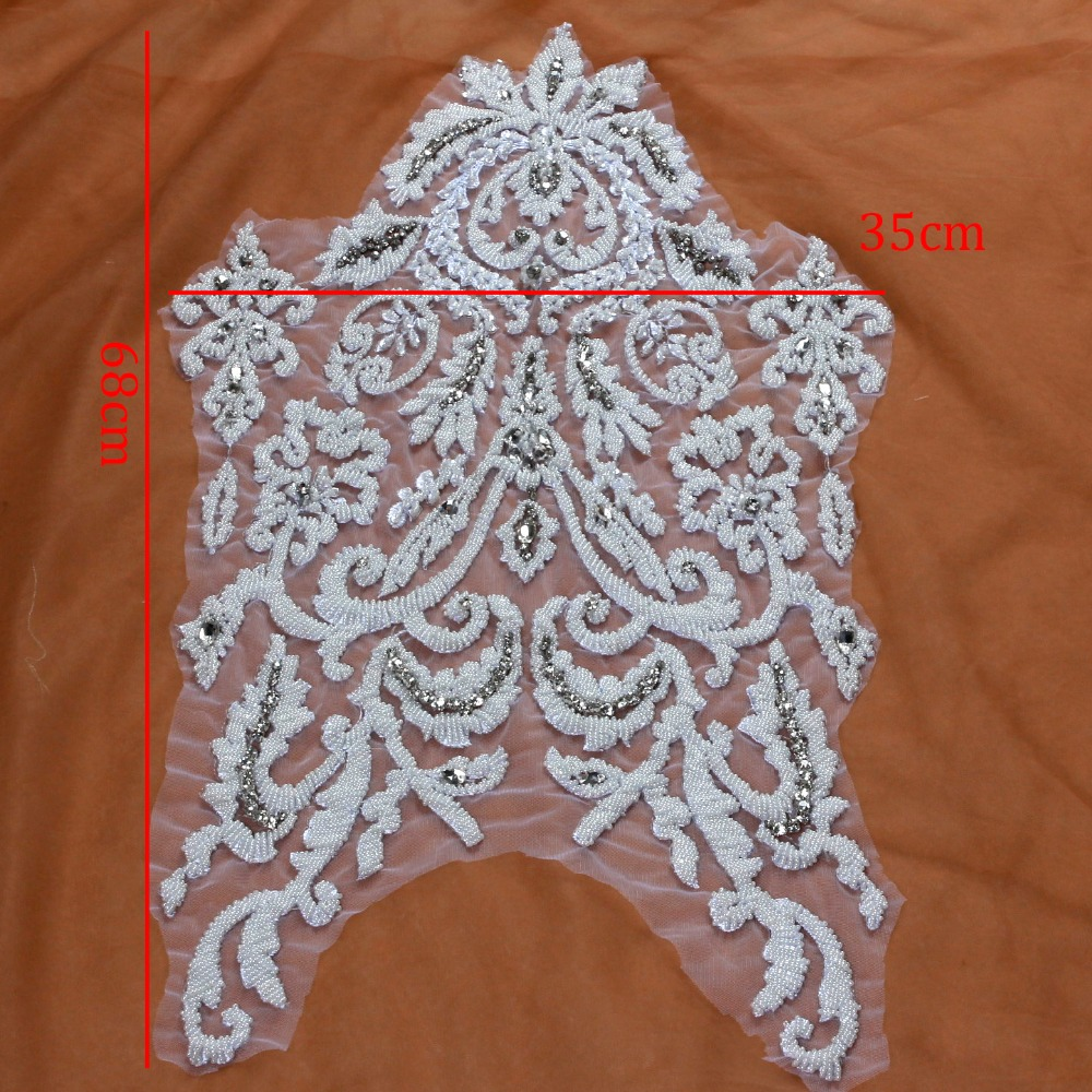 White Embroidery Patch