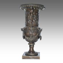 Vase Statue Goddess Flowerpot Decoration Bronze Sculpture TPE-1039