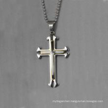 Wholesale simple pendant design,double enamel cross pendant jewelry