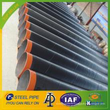 Tuyau en acier API 5L SSAW avec revêtement 3LPE pour ligne de gaz et d'huile